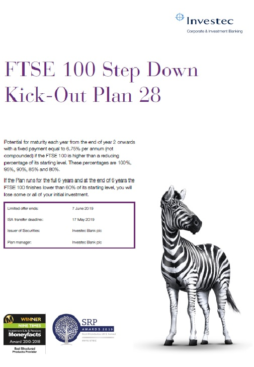 Investec FTSE 100 Step Down Kick-Out Plan 28