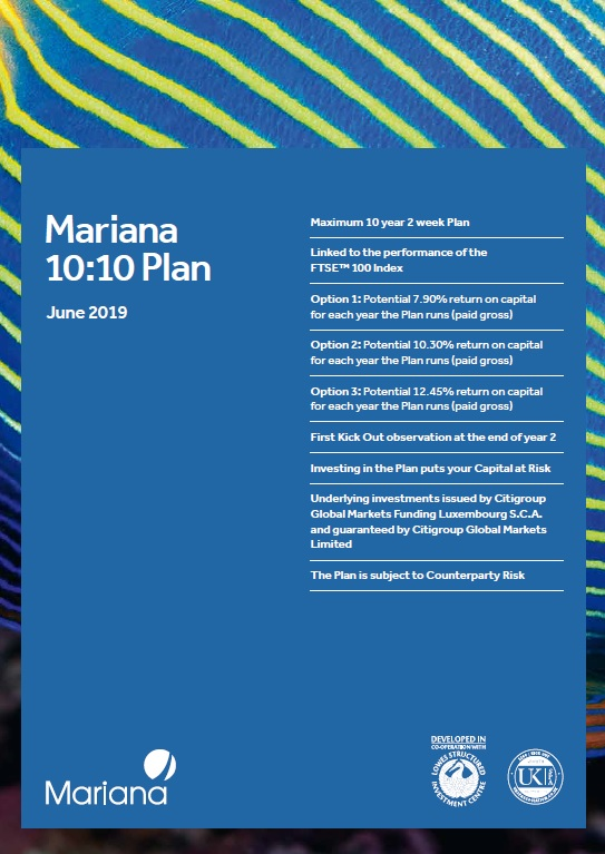 Mariana Capital 10:10 Plan June 2019 (Option 1)