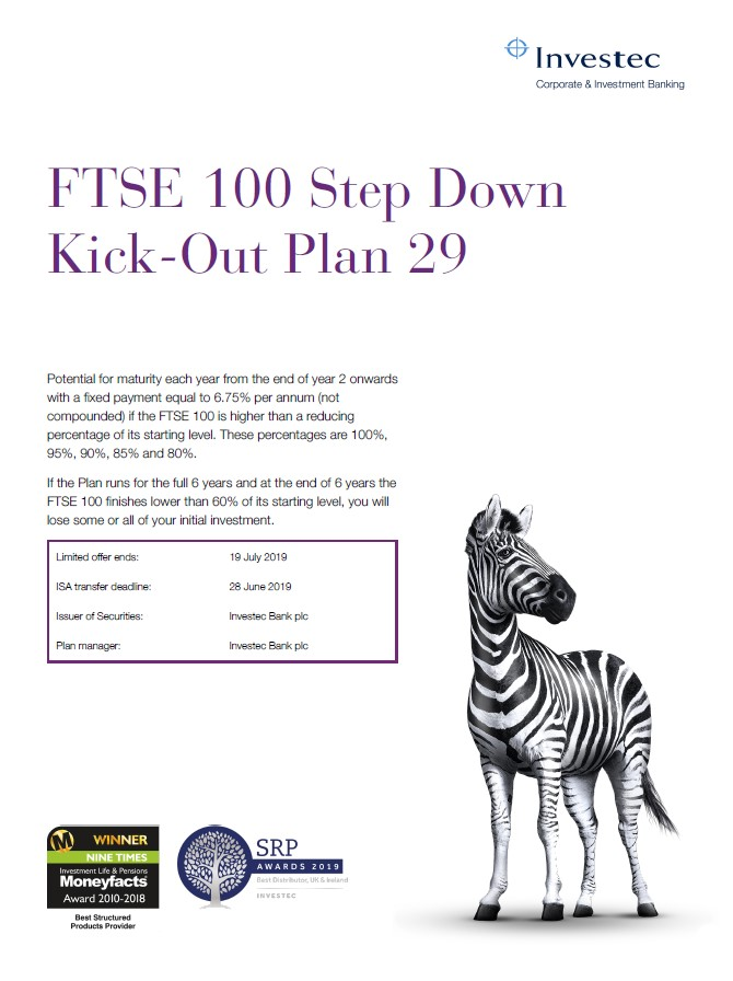 Investec FTSE 100 Step Down Kick-Out Plan 29