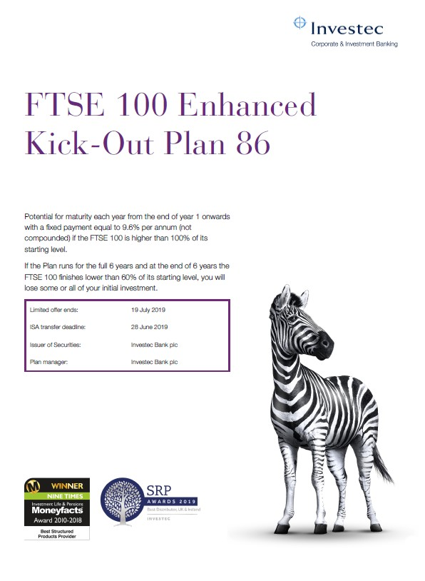Investec FTSE 100 Enhanced Kick-Out Plan 86