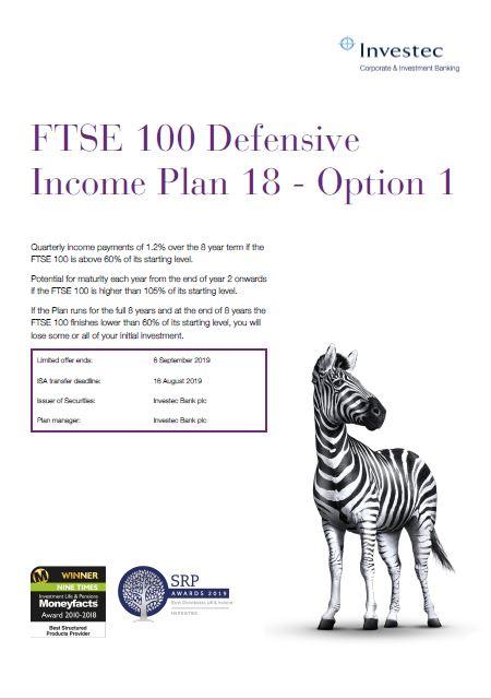 Investec FTSE 100 Defensive Income Plan 18 - Option 1