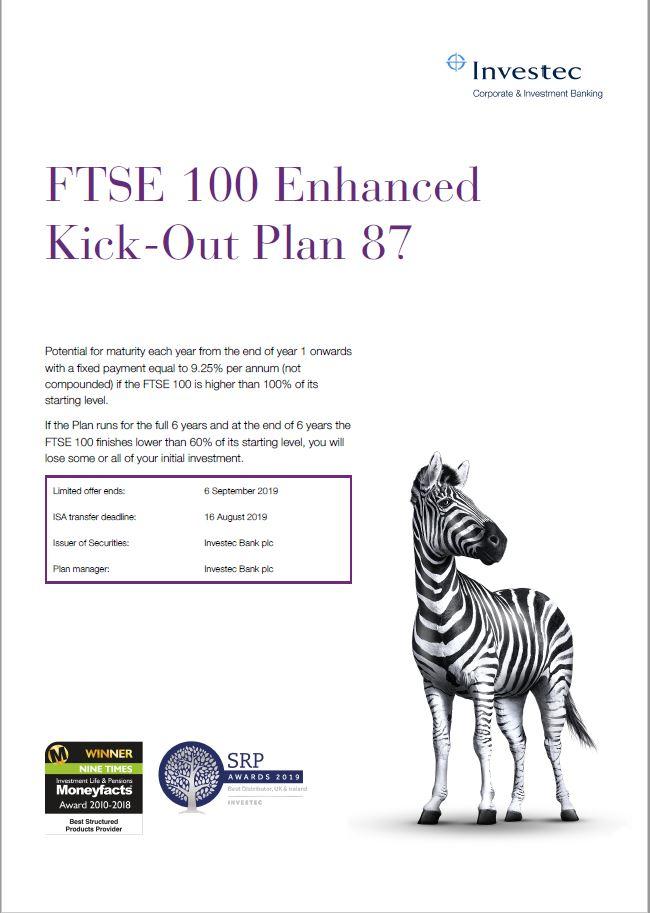 Investec FTSE 100 Enhanced Kick-Out Plan 87