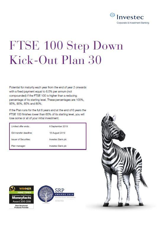 Investec FTSE 100 Step Down Kick-Out Plan 30