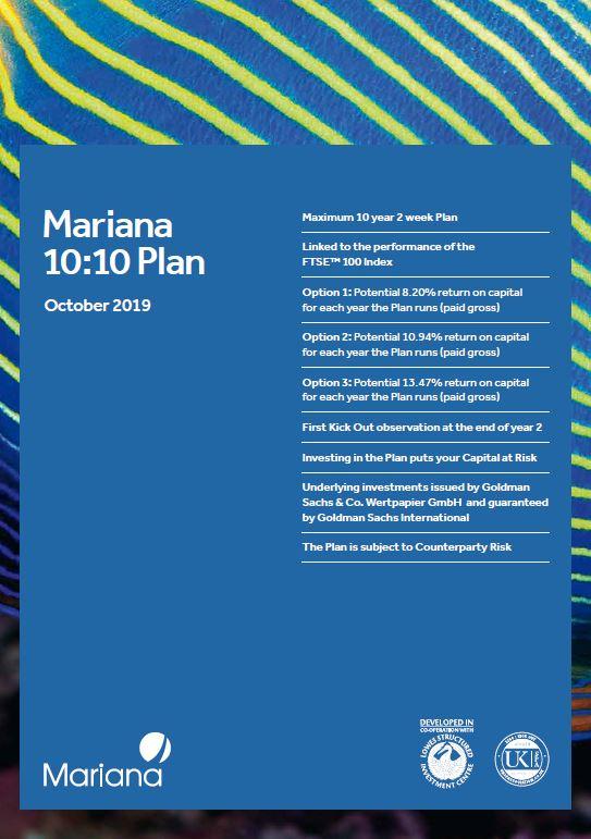 Mariana Capital 10:10 Plan October 2019 (Option 1)