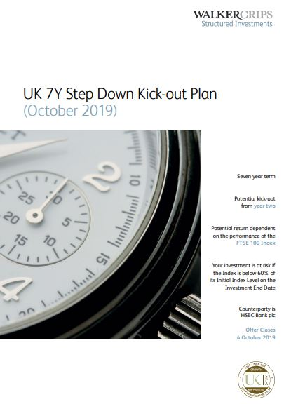 Walker Crips UK 7Y Step Down Kick-Out Plan October 2019