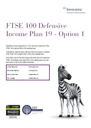 Investec FTSE 100 Defensive Income Plan 19 - Option 1