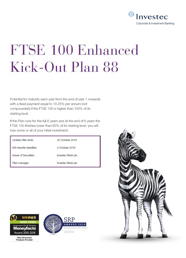 Investec FTSE 100 Enhanced Kick-Out Plan 88