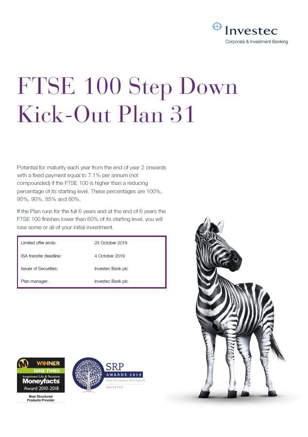 Investec FTSE 100 Step Down Kick-Out Plan 31