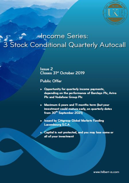 Hilbert Investment Solutions Income Series: 3 Stock Conditional Quarterly Autocall Issue 2