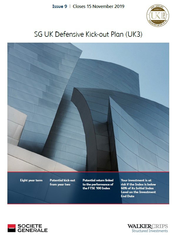 Societe Generale UK Defensive Kick-out Plan (UK3) Issue 9 (Collateralised)