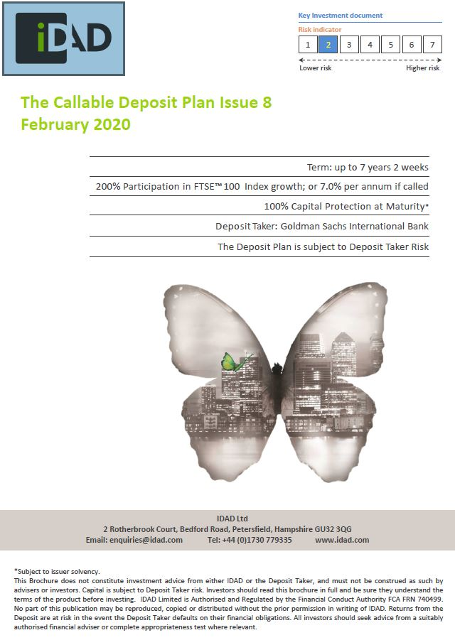 IDAD The Callable Deposit Plan Issue 8 February 2020