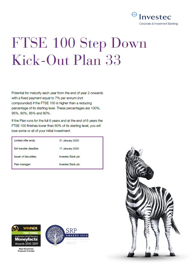 Investec FTSE 100 Step Down Kick-Out Plan 33