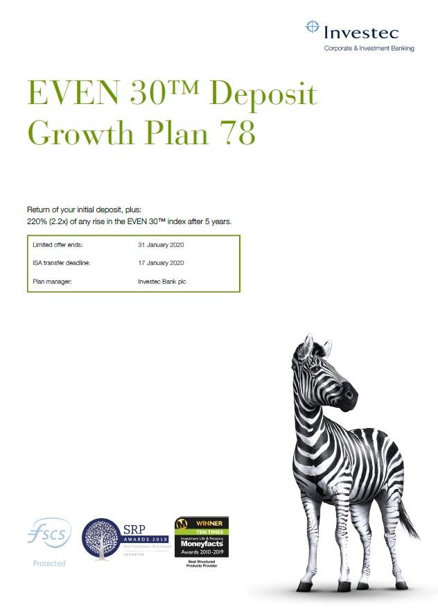 Investec EVEN 30 Deposit Growth Plan 78