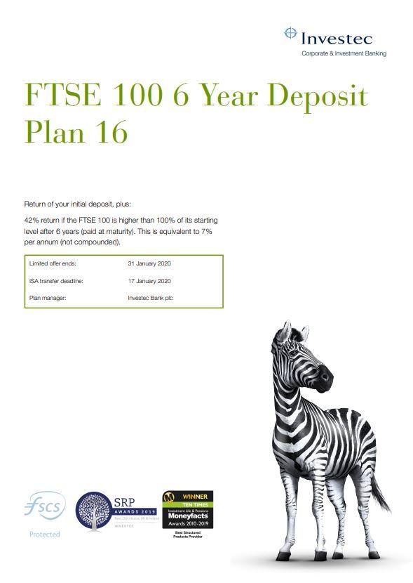 Investec FTSE 100 6 Year Deposit Plan 16