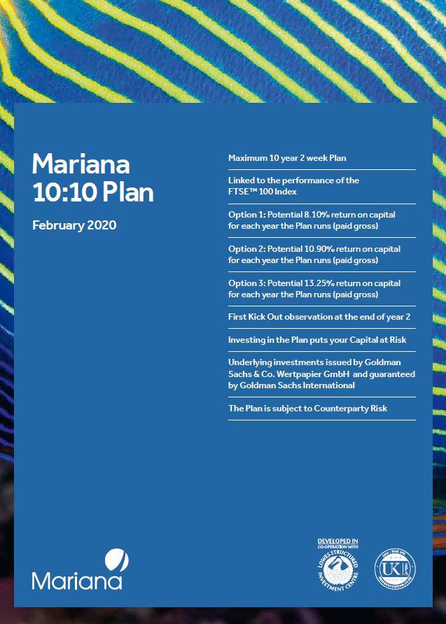 Mariana Capital 10:10 Plan February 2020 (Option 1)
