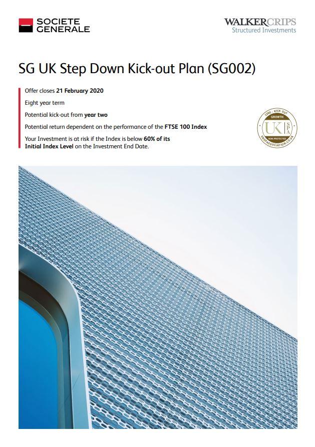 Societe Generale UK Step Down Kick-out Plan (SG002)
