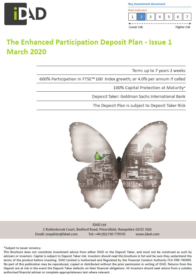 IDAD The Enhanced Participation Deposit Plan - Issue 1 March 2020