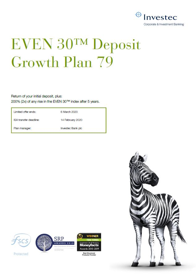 Investec EVEN 30 Deposit Growth Plan 79