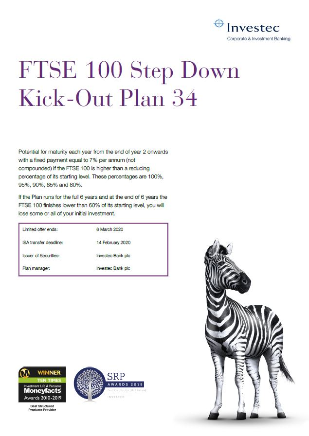 Investec FTSE 100 Step Down Kick-Out Plan 34