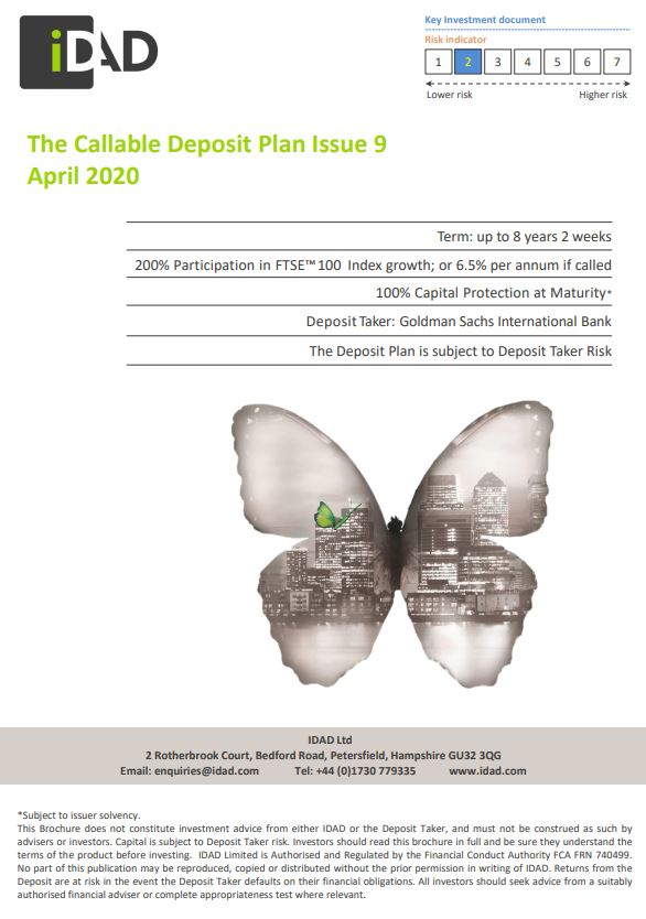 IDAD The Callable Deposit Plan Issue 9 April 2020