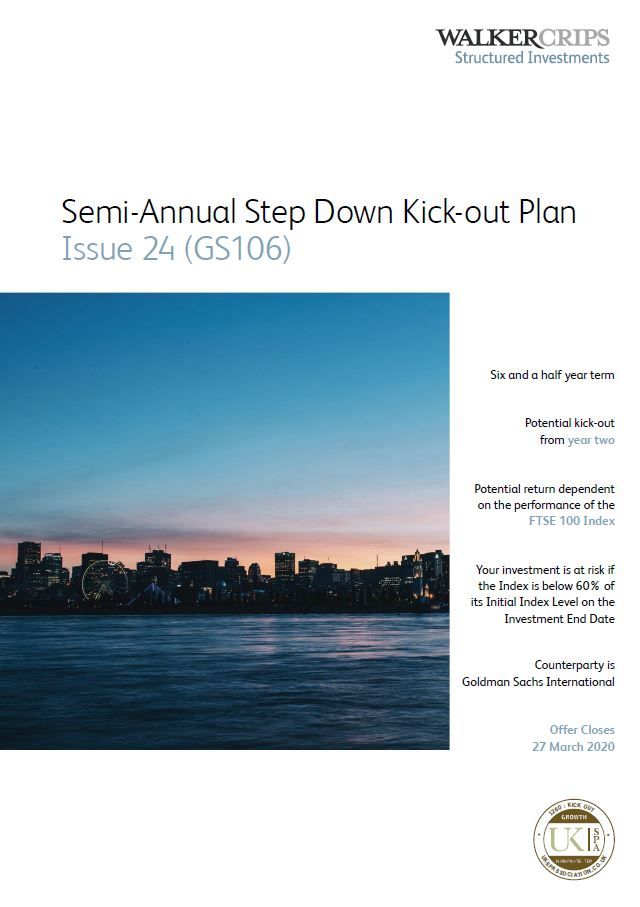 Walker Crips Semi-Annual Step Down Kick-Out Plan Issue 24 (GS106)