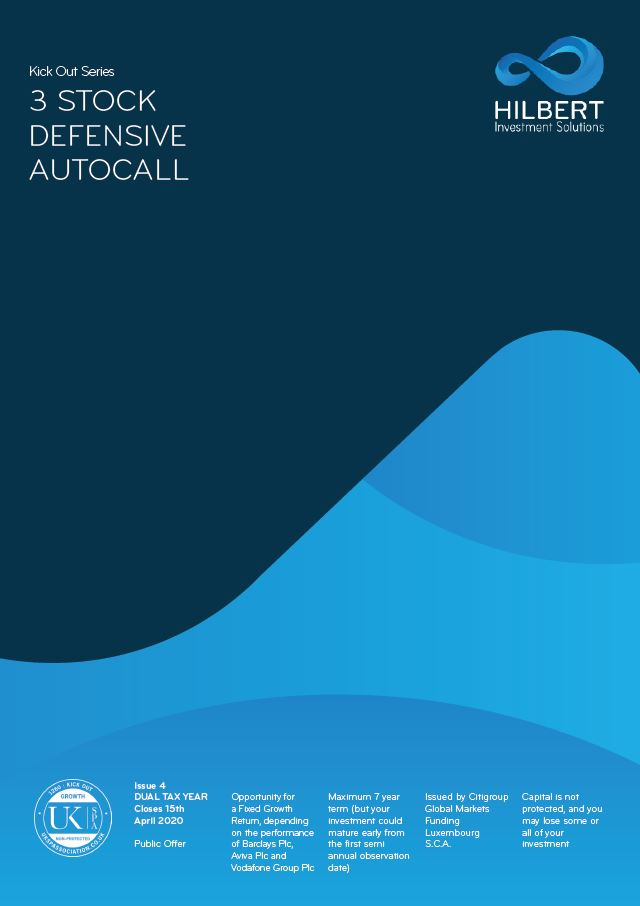 Hilbert Investment Solutions Kick Out Series: 3 Stock Defensive Autocall Issue 4