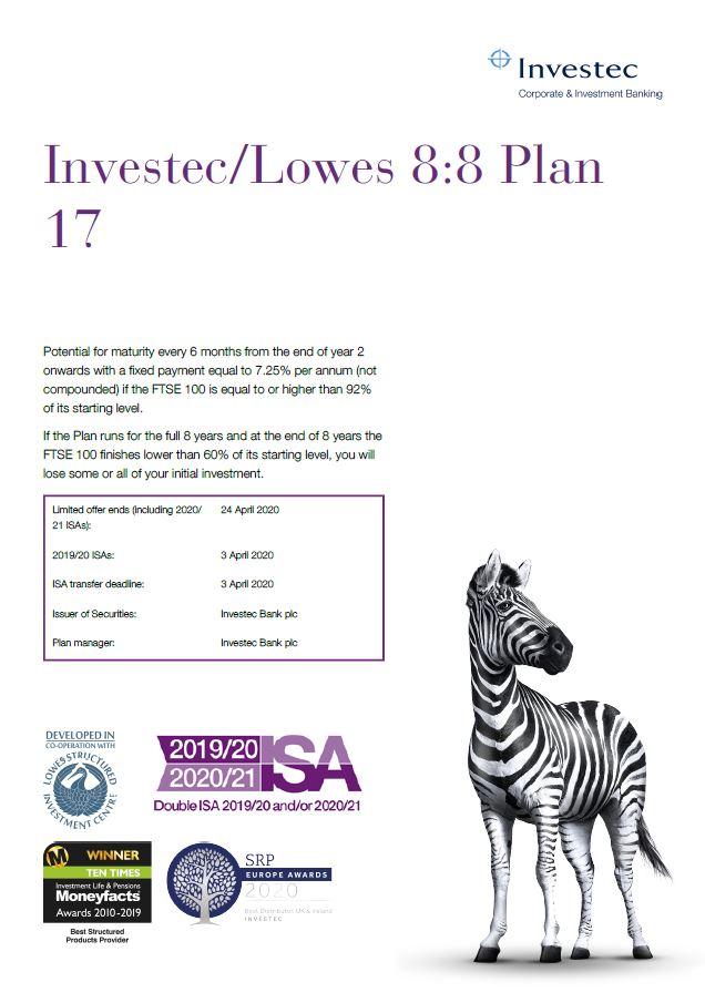Investec / Lowes 8:8 Plan 17