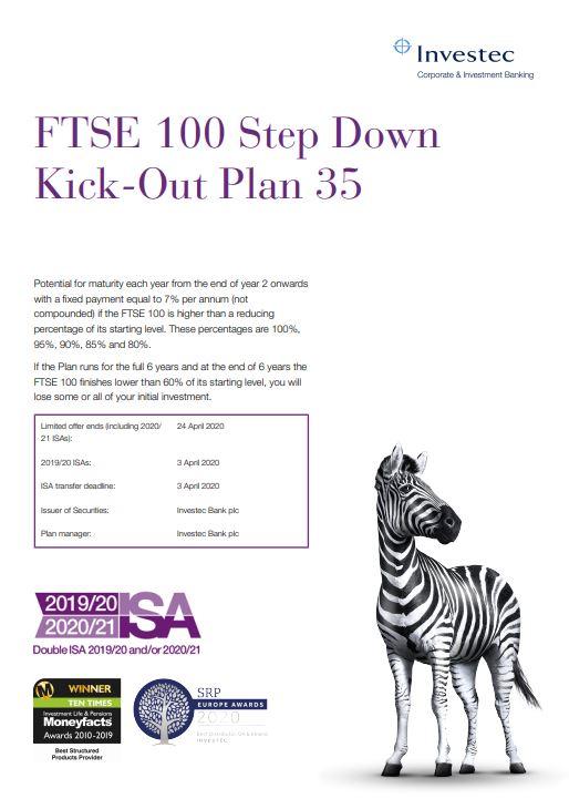 Investec FTSE 100 Step Down Kick-Out Plan 35