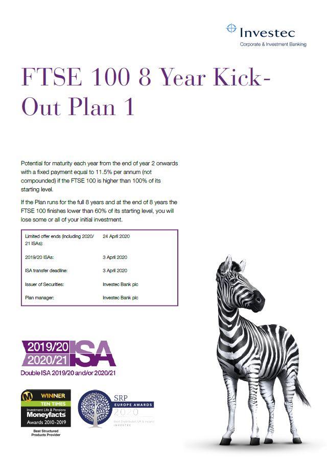Investec FTSE 100 8 Year Kick-Out Plan 1