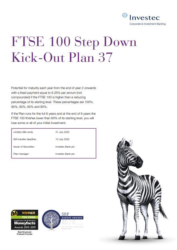 Investec FTSE 100 Step Down Kick-Out Plan 37