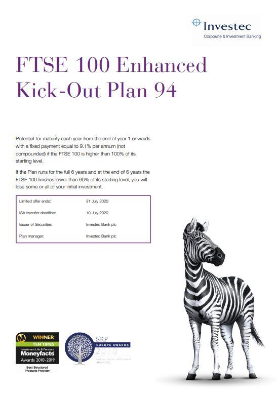 Investec FTSE 100 Enhanced Kick-Out Plan 94