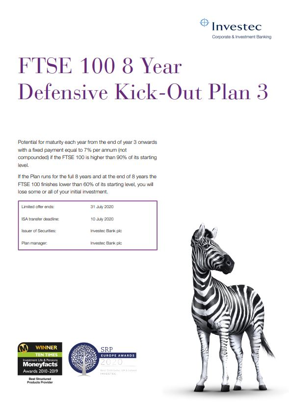 Investec FTSE 100 8 Year Defensive Kick-Out Plan 3