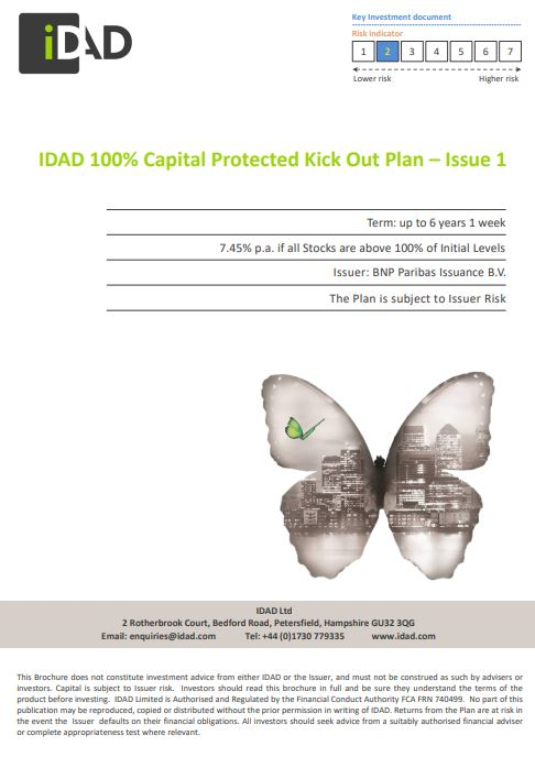 IDAD 100% Capital Protected Kick Out Plan - Issue 1