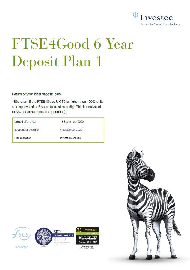 Investec FTSE4Good 6 Year Deposit Plan 1
