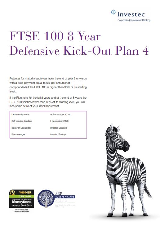 Investec FTSE 100 8 Year Defensive Kick-Out Plan 4