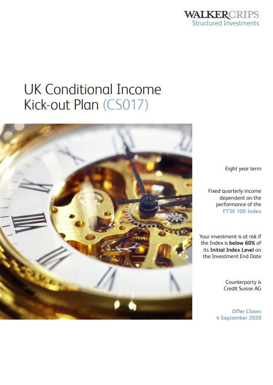 Walker Crips UK Conditional Income Kick-out Plan (CS017)