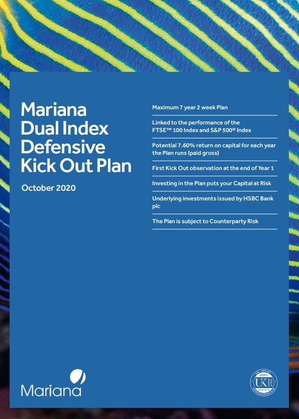 Mariana Capital Dual Index Defensive Kick Out Plan October 2020