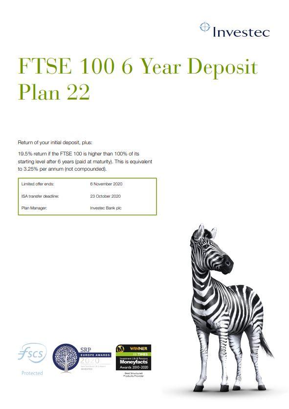 Investec FTSE 100 6 Year Deposit Plan 22