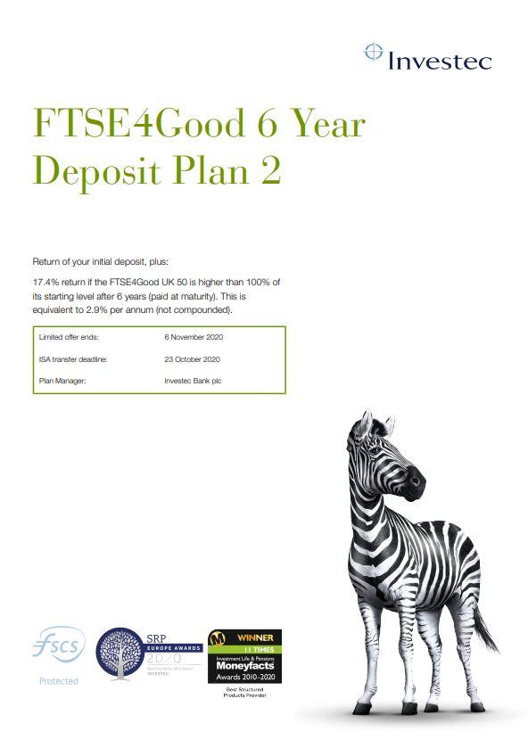 Investec FTSE4Good 6 Year Deposit Plan 2