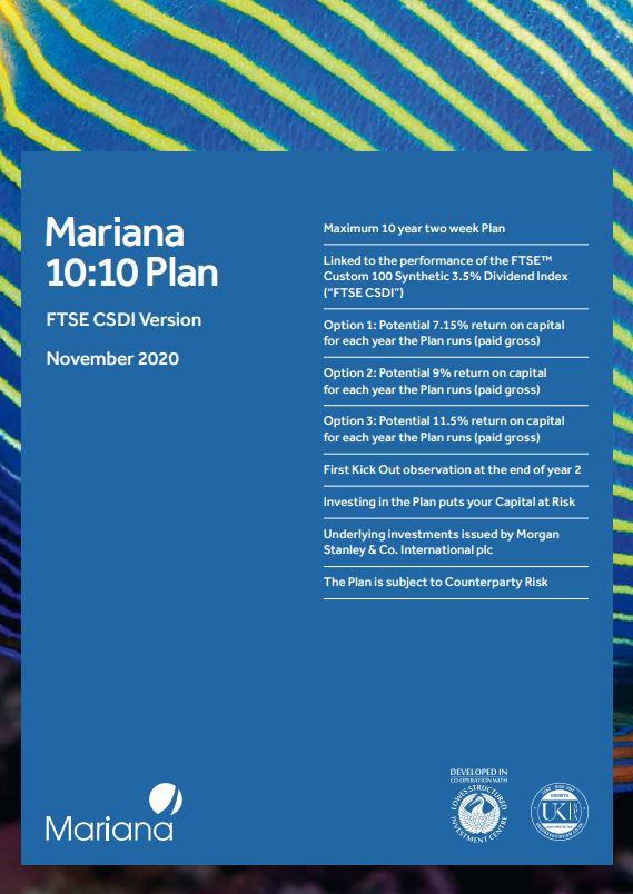 Mariana Capital 10:10 Plan November 2020 (Option 3)