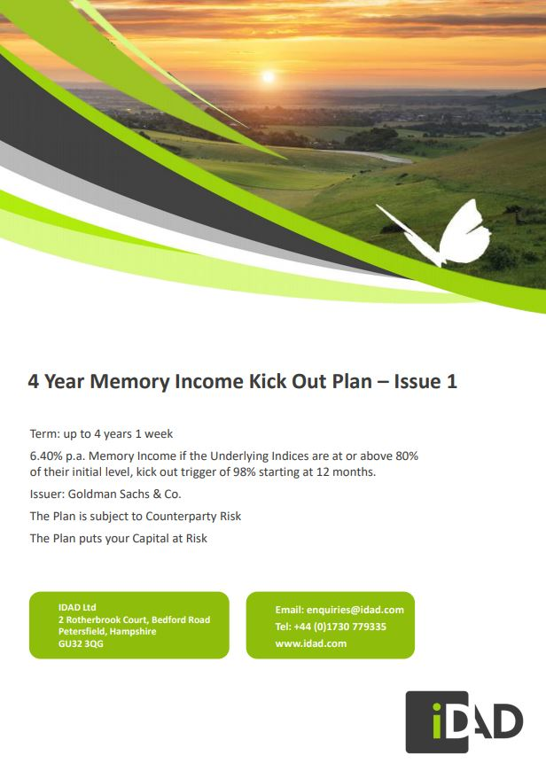 IDAD 4 Year Memory Income Kick Out Plan - Issue 1