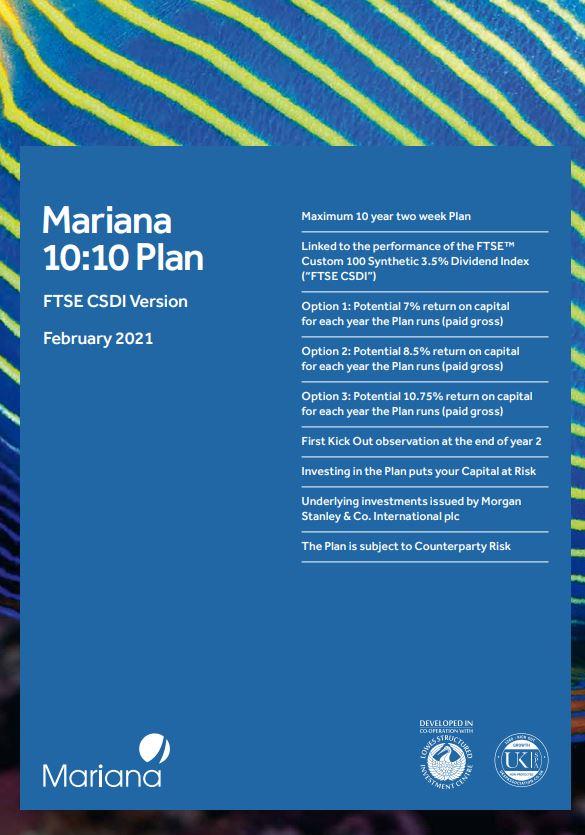 Mariana Capital 10:10 Plan February 2021 (Option 1)