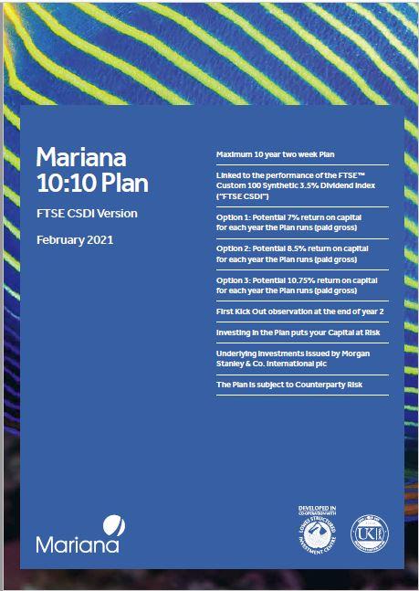 Mariana Capital 10:10 Plan February 2021 (Option 3)
