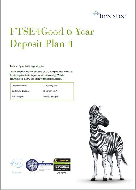 Investec FTSE4Good 6 Year Deposit Plan 4