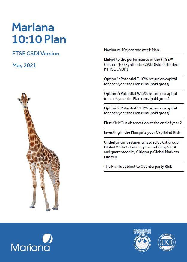 Mariana 10:10 Plan May 2021 (Option 2)
