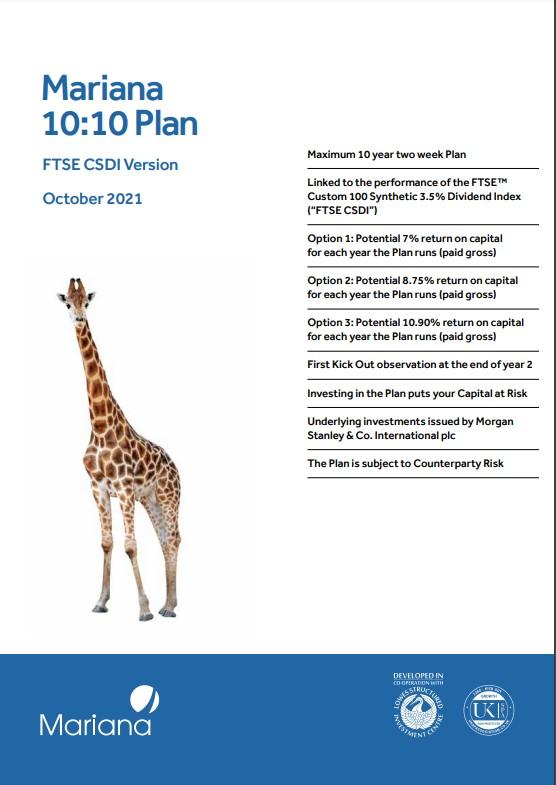 Mariana 10:10 Plan October 2021 (Option 3)